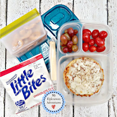 My Epicurean Adventures: Lunch Box Fun 2015-16: Week #17-18. Lunch box ideas, school lunch ideas, lunches, easy pizza