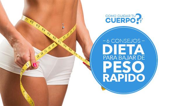 como bajar de peso en una semana para mujeres urgente