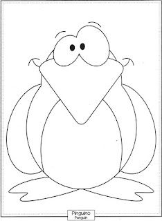 Desenho de Pinguim para pintar