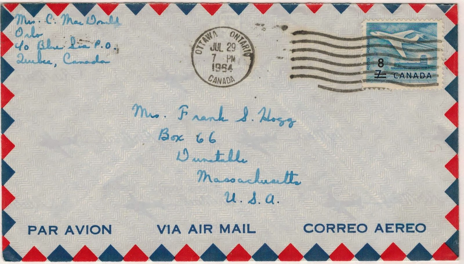 Postal history corner 4 united states air mail letter for How to mass mail letters