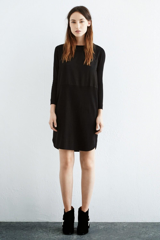 warehouse black satin dress