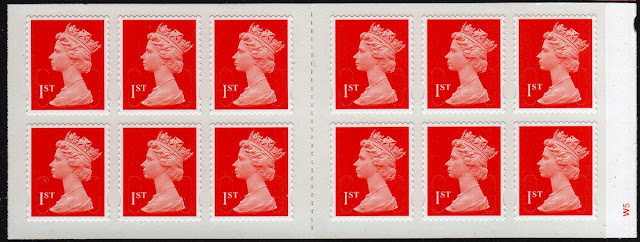 12 x 1st royal mail red book of Machin definitive stamps.