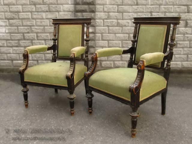 Divi krēsli (eklektika). 19.gs beigas