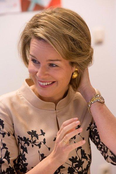 Queen Mathilde visits a retirement home Ter Durmen