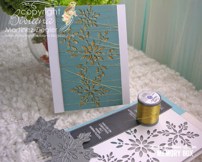 CAS gold snowflake card for winter supplies