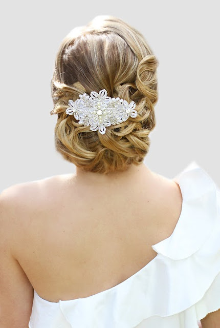 "Filigree Lace Headpiece for Brides- ""Annabelle Headpiece"""