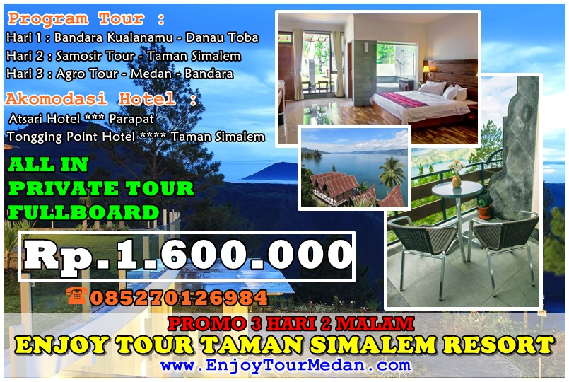 Promo Paket Tour Taman Simalem Resort 3 Hari 2 Malam - FullBoard - Private Tour - EnjoyTourMedan.co