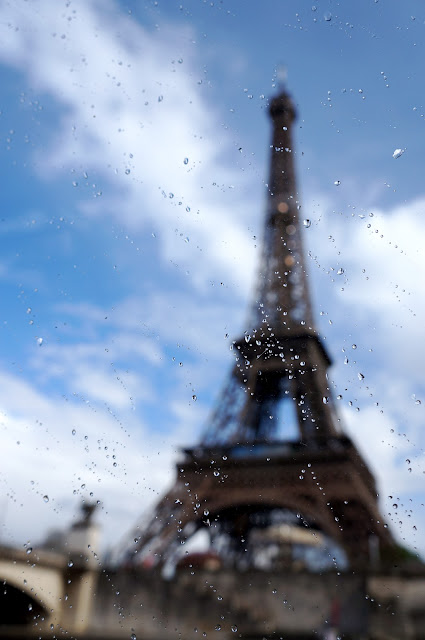 paris eiffel tower spring rainy day 2013 from boat tour