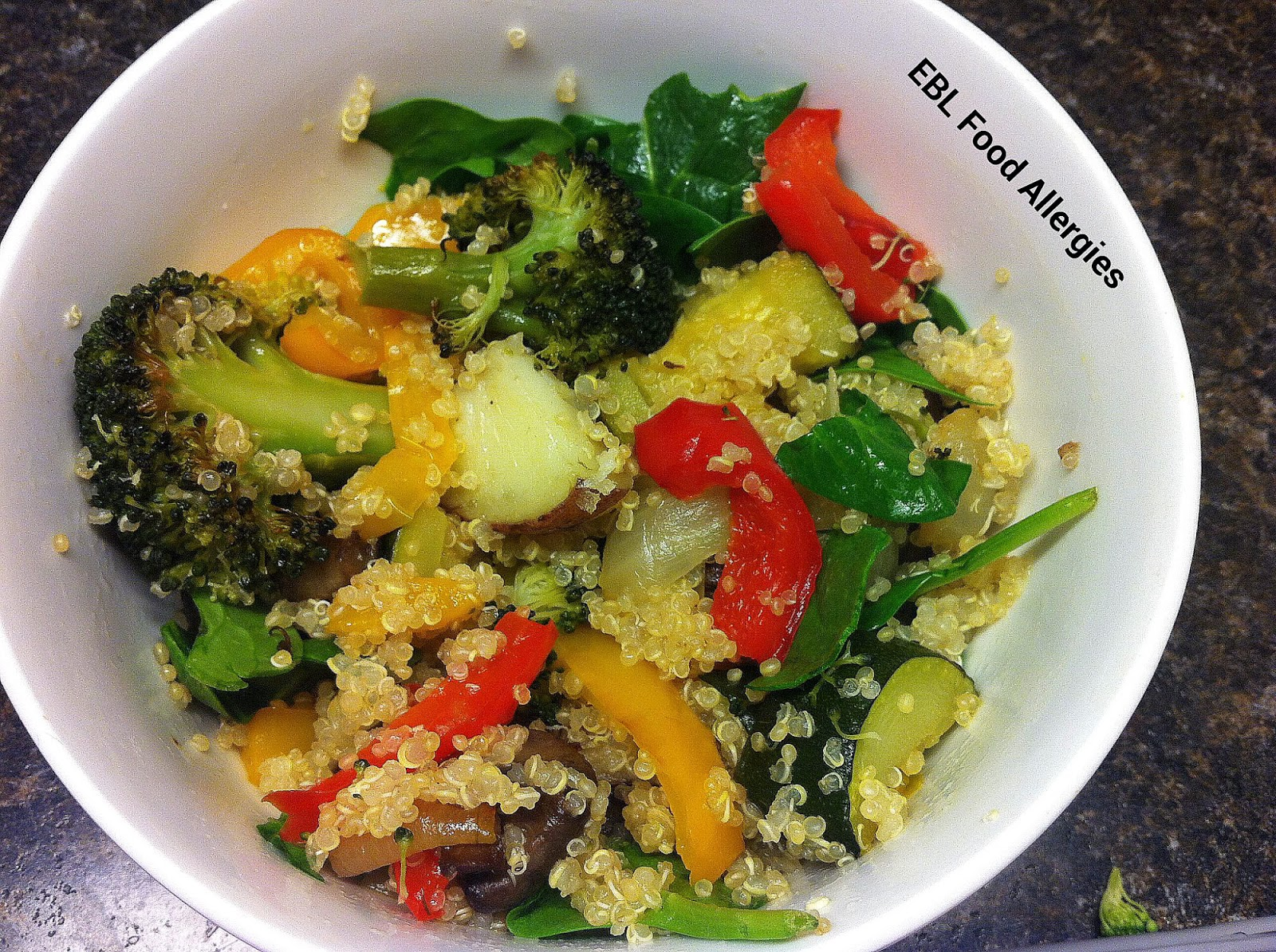 Veggie Quinoa #glutenfree #top8free