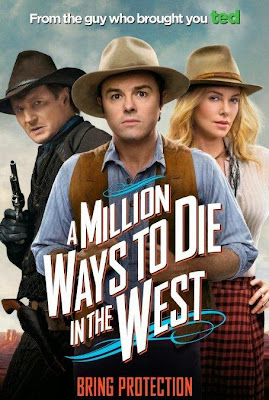 Poster Of Hollywood Film A Million Ways to Die in the West (2014) In 300MB Compressed Size PC Movie Free Download At worldfree4u.com