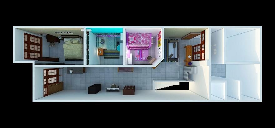 ... Ruko Minimalis Modern: Jasa Desain Denah 3d Interior Ruko Minimalis