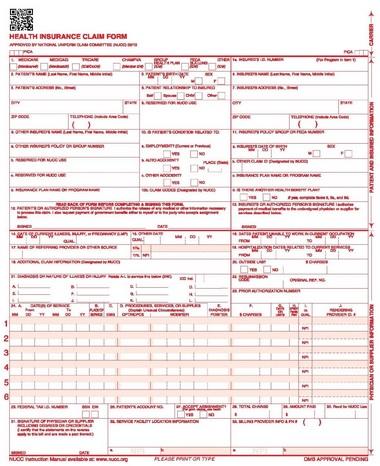 Apply My Profession Cms 1500 New Claim Form