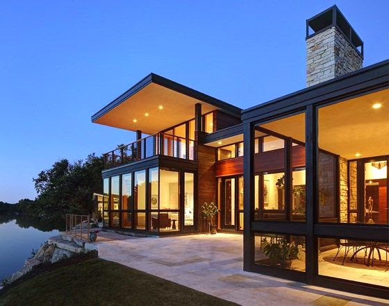 Rock river house bruns architecture illinois arquitexs - Casas madera modernas ...