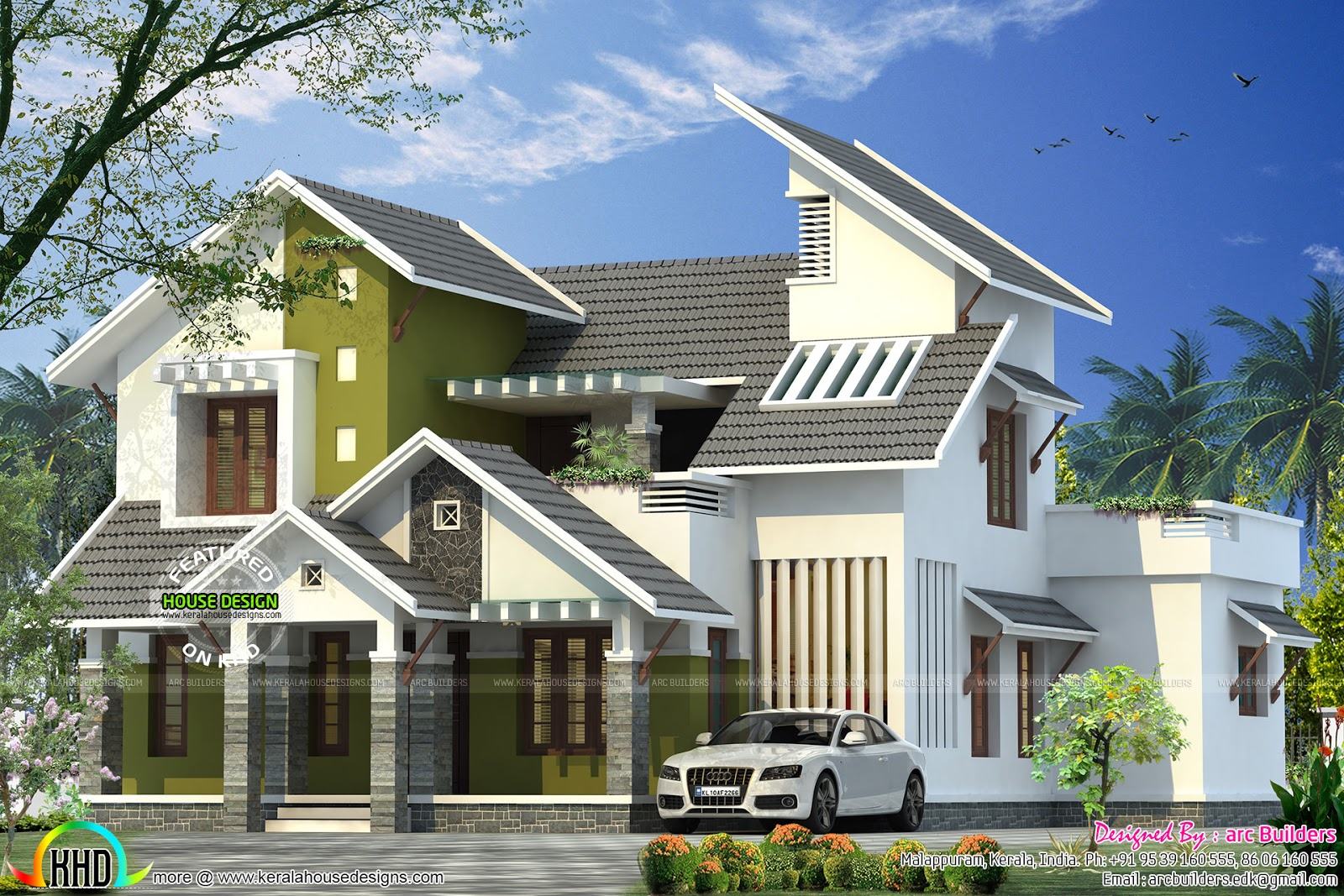 Contemporary Style Home By Arc Builders Kerala Home