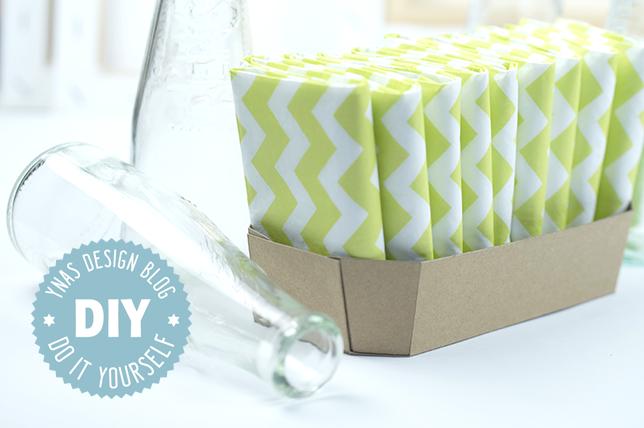 Ynas Design Blog | DIY | Pappschale auf Kraftpapier gefaltet