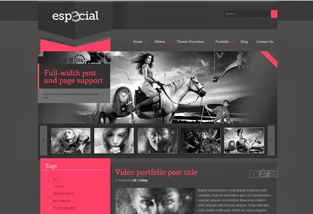 eSpecial Blogger Template