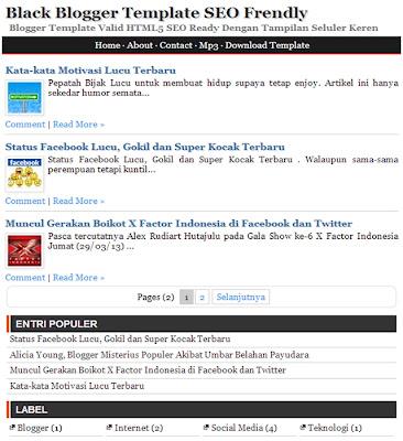 Template Blogger SEO Ready Dengan Tampilan Seluler