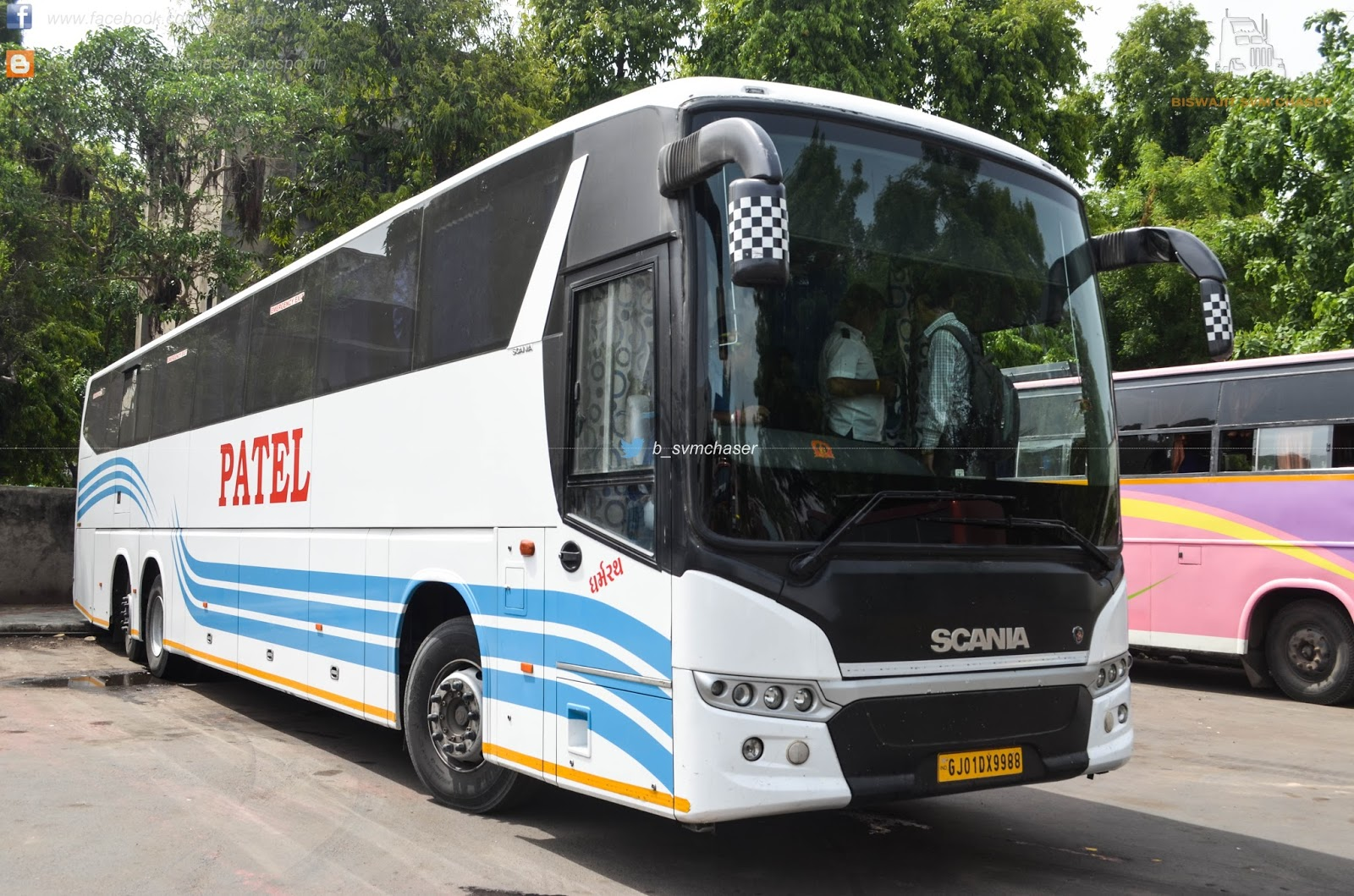 Patel Scania Metrolink Hd Multiaxle Seater Gj01 Dx 9988