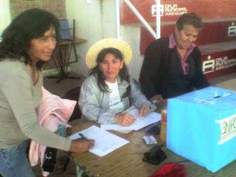 SITASE AREQUIPA NORTE : SE REALIZARON ELECCIONES