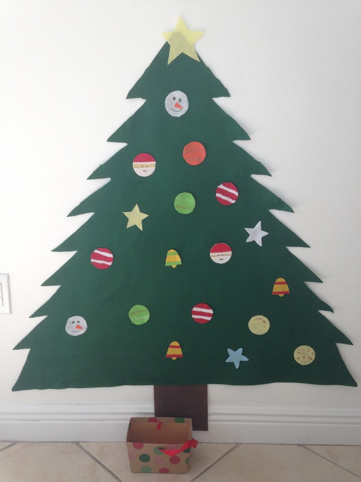Borboleta rbol de navidad de fieltro - Arbol de navidad de fieltro ...
