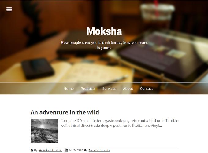Moksha Responsive Blogger Template