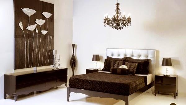 matrimonial en color chocolate y blanco Muebles de diseño clásico y