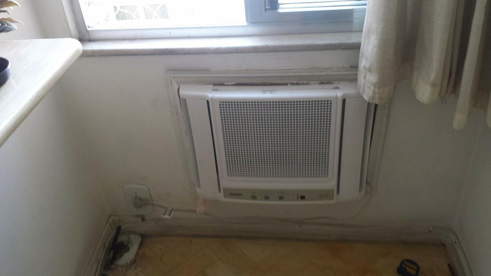 #463E2F Dicas do Gilson Eletricista: Um ar condicionado de janela pode ficar  1456 Suporte Ar Condicionado Janela Aluminio