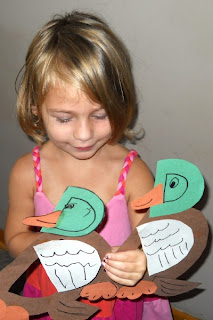 paper crafts for kids: animal alphabet art- d is for duck