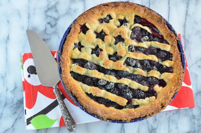 Fourth of July Blackberry Pie - Smell of Rosemary.