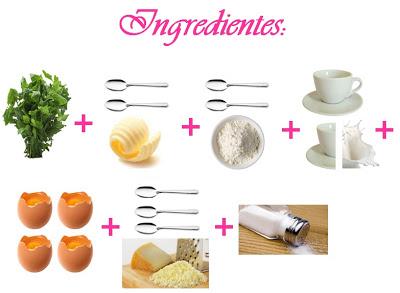 receita de suflê de espinafre