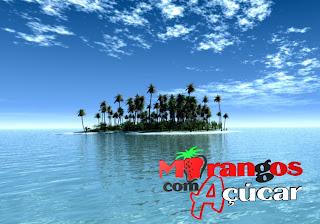 Morangos com Açucar Posters Wallpapers Grátis Logotipo da série juvenil portuguesa em fundo Ilha Paraíso