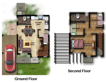 All about me bel air residences lipa a house a home for Single detached house floor plan