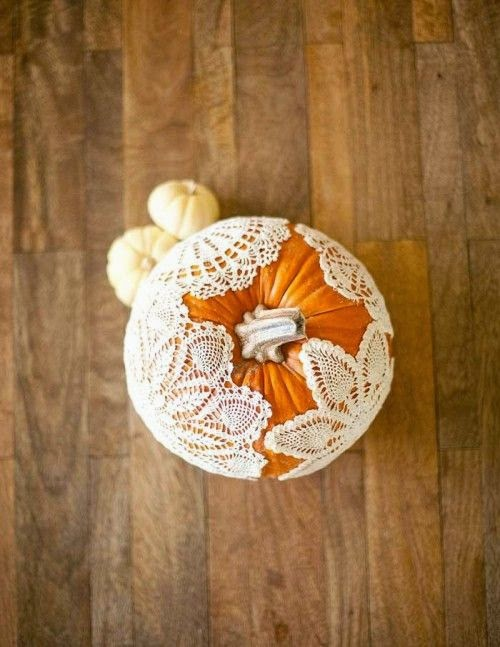dolly decorated pumpkin