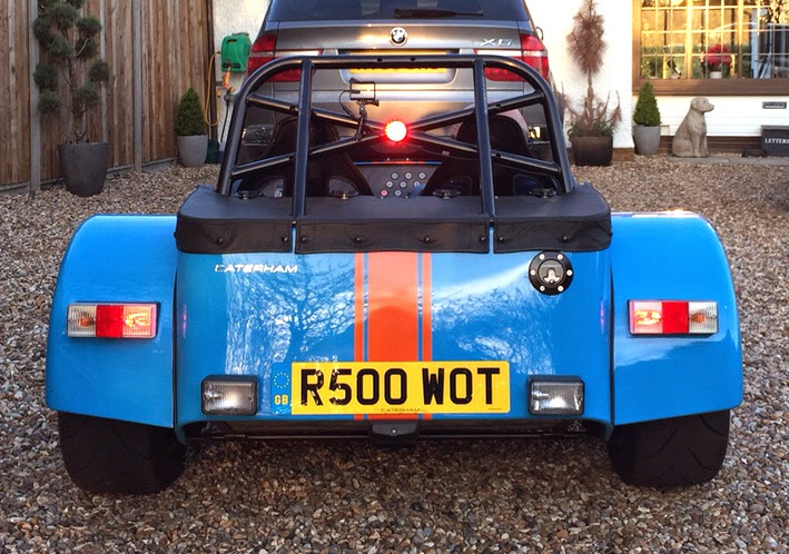Caterham R500 with third brake light illuminated