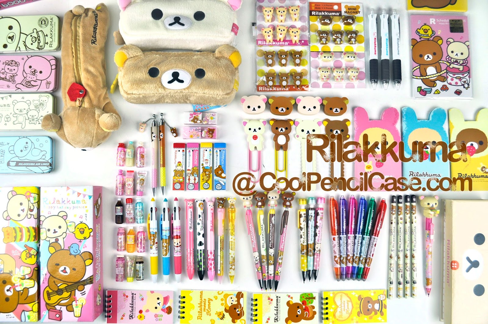 Rilakkuma pencil cases erasers pens notes at cool pencil case