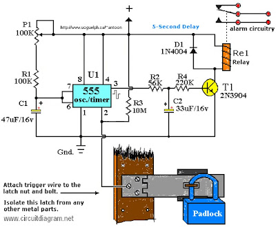 Latest Touch Alarm System circuit schematic with explanation ...