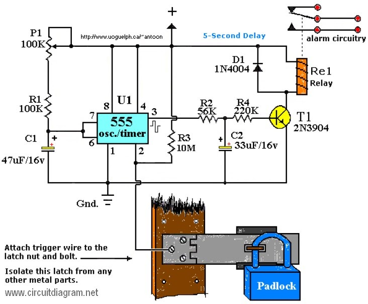 Latest Touch Alarm System Circuit Schematic With