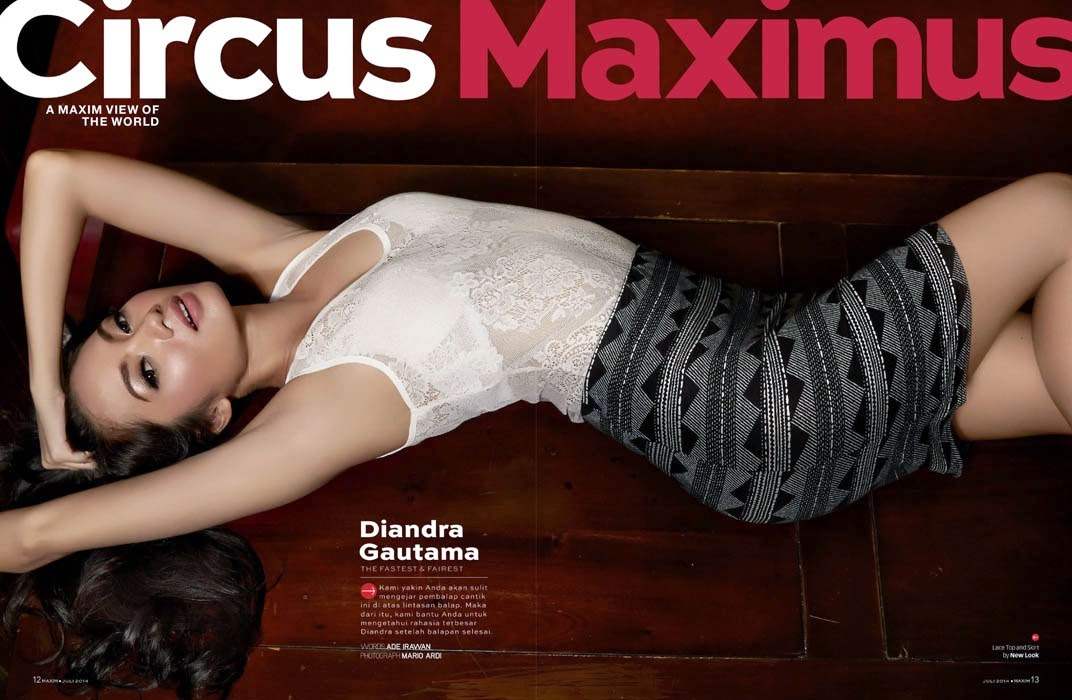 Diandra Gautama - Maxim Magazine, Indonesia, July 2014