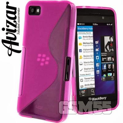 Coque S-Line fuchsia avec ports dégagés pour BlackBerry Z10
