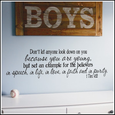 Encouragement quotes for teenage boys quotesgram for Bible verses for kids rooms