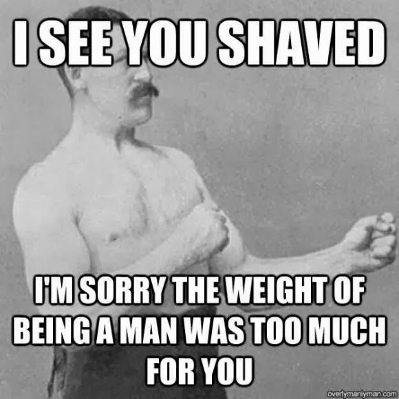 shaving beard meme