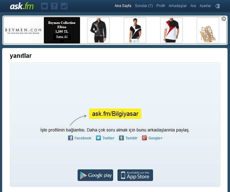 ask.fm giriş sayfası