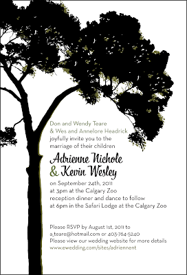 wedding invite design - adrienne & kevin headrick