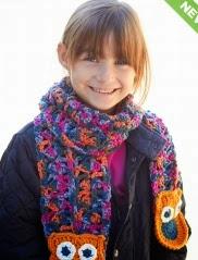 http://www.yarnspirations.com/pattern/crochet/give-hoot-scarf