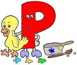alfabeto colorido letra p