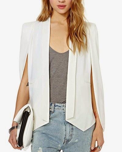 http://www.yoyomelody.com/white-open-sleeve-tailored-blazer-with-slim-lapel-ja0150002-3.html