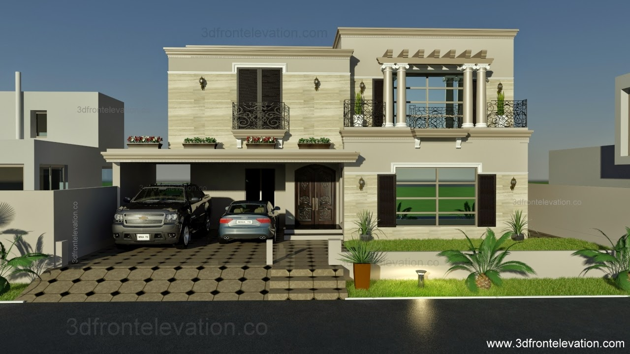 ... Elevation.com: 1 Kanal Spanish House Design PLan DHA Lahore.Pakistan