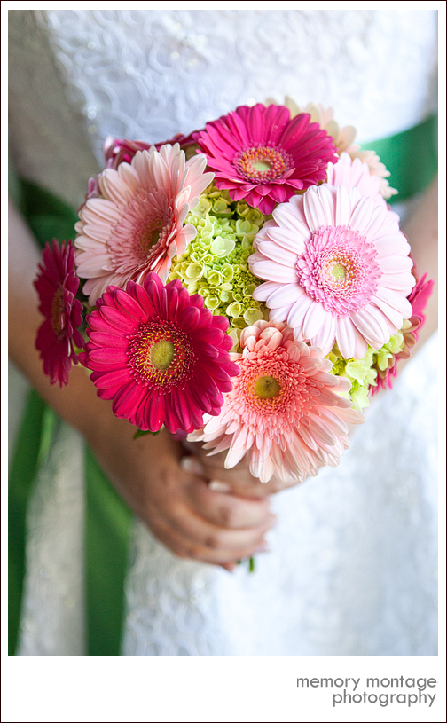 wedding bouquet pink purple orange green white