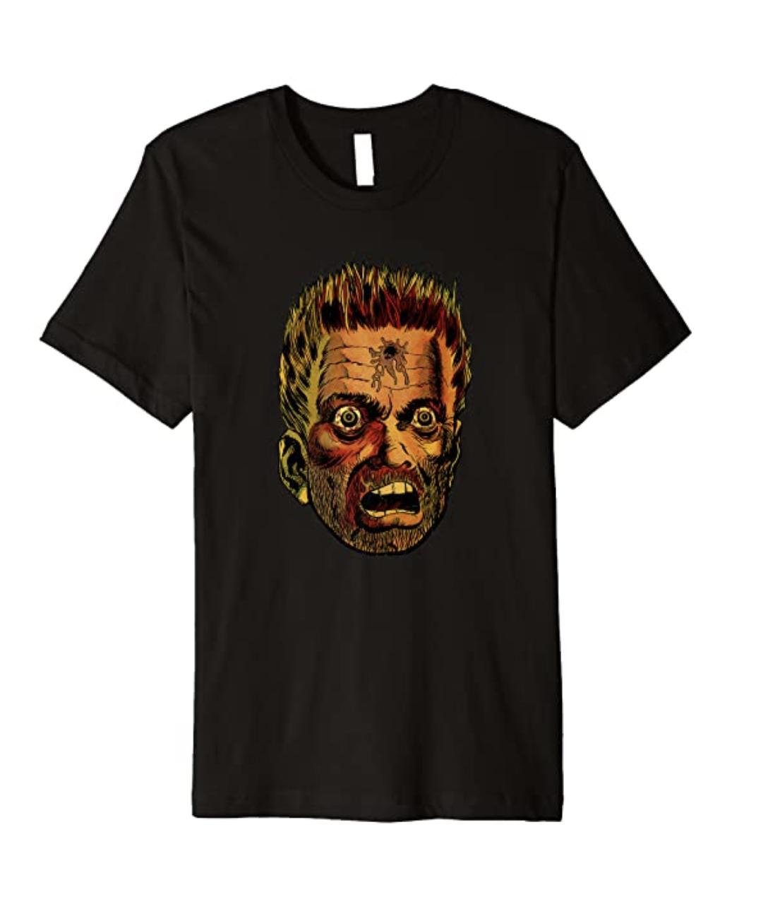 HEAD SHOT HORROR Vintage Zombies Undead Illustrated Premium T-Shirt