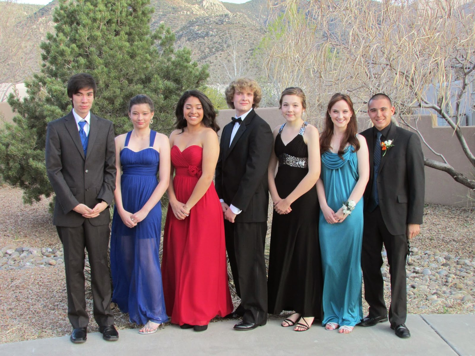 prom picture, group